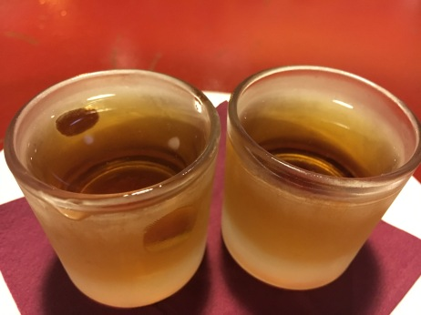 Caramel Vodka shots