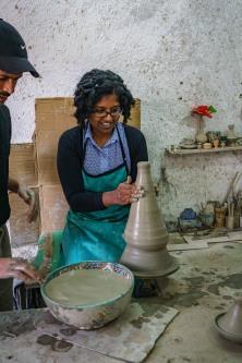 Making pottery!