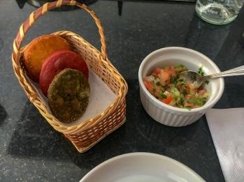 Sopiapillas and salsa