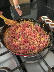 Making the beef filling
