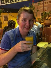 Ben drinking canelaso